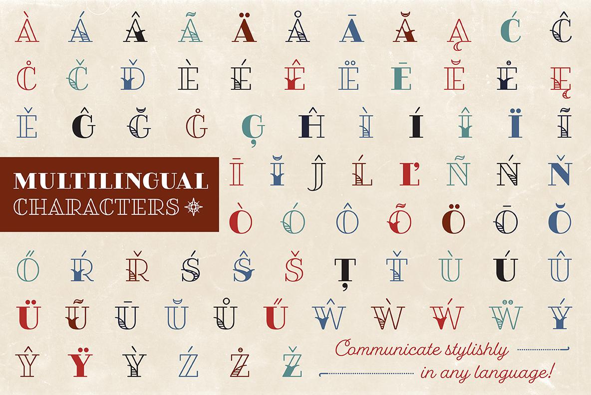 Fairwater Deco Serif example image 5