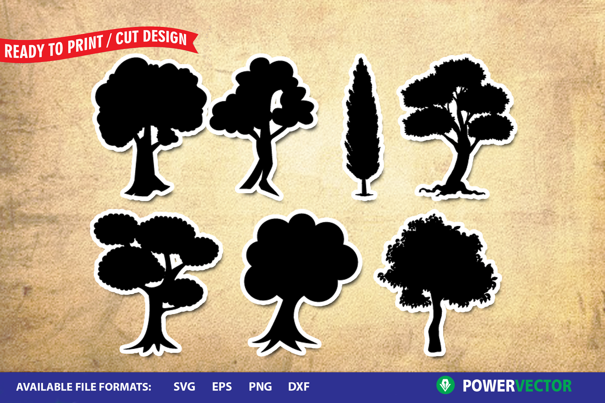 Forest Trees SVG Files for Crafters example image 1