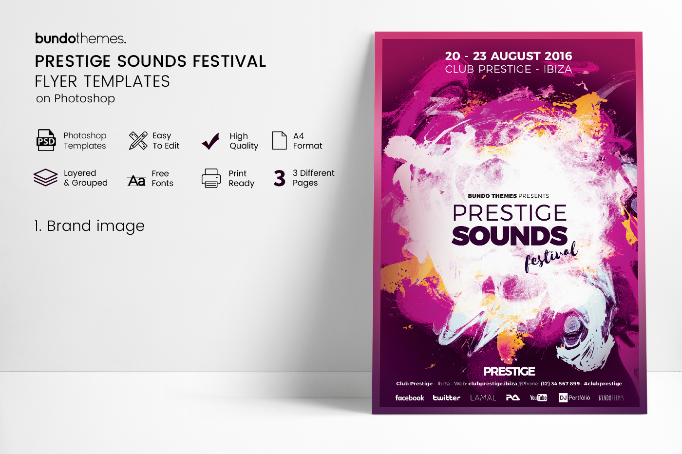 Prestige Sounds Festival Flyer Templates example image 4