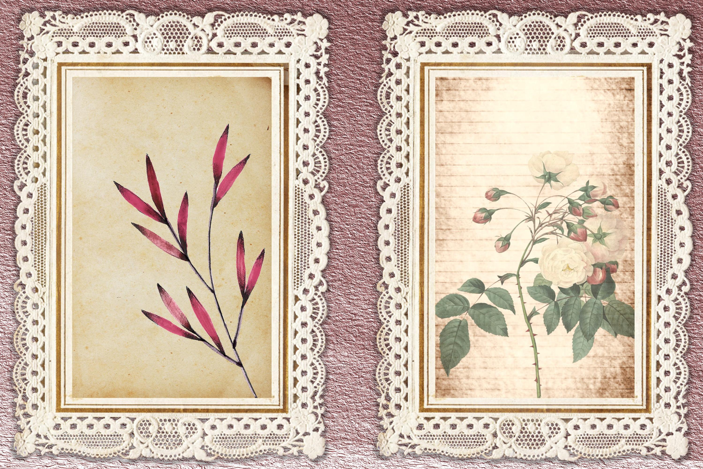 Journaling Kit Pink Botanicals with free ephemera & clipart example image 7