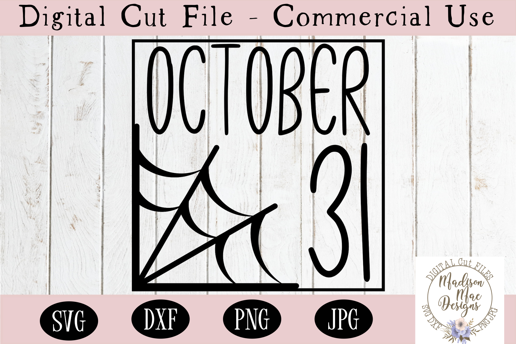 October 31 SVG, Halloween SVG, Cutting File example image 2