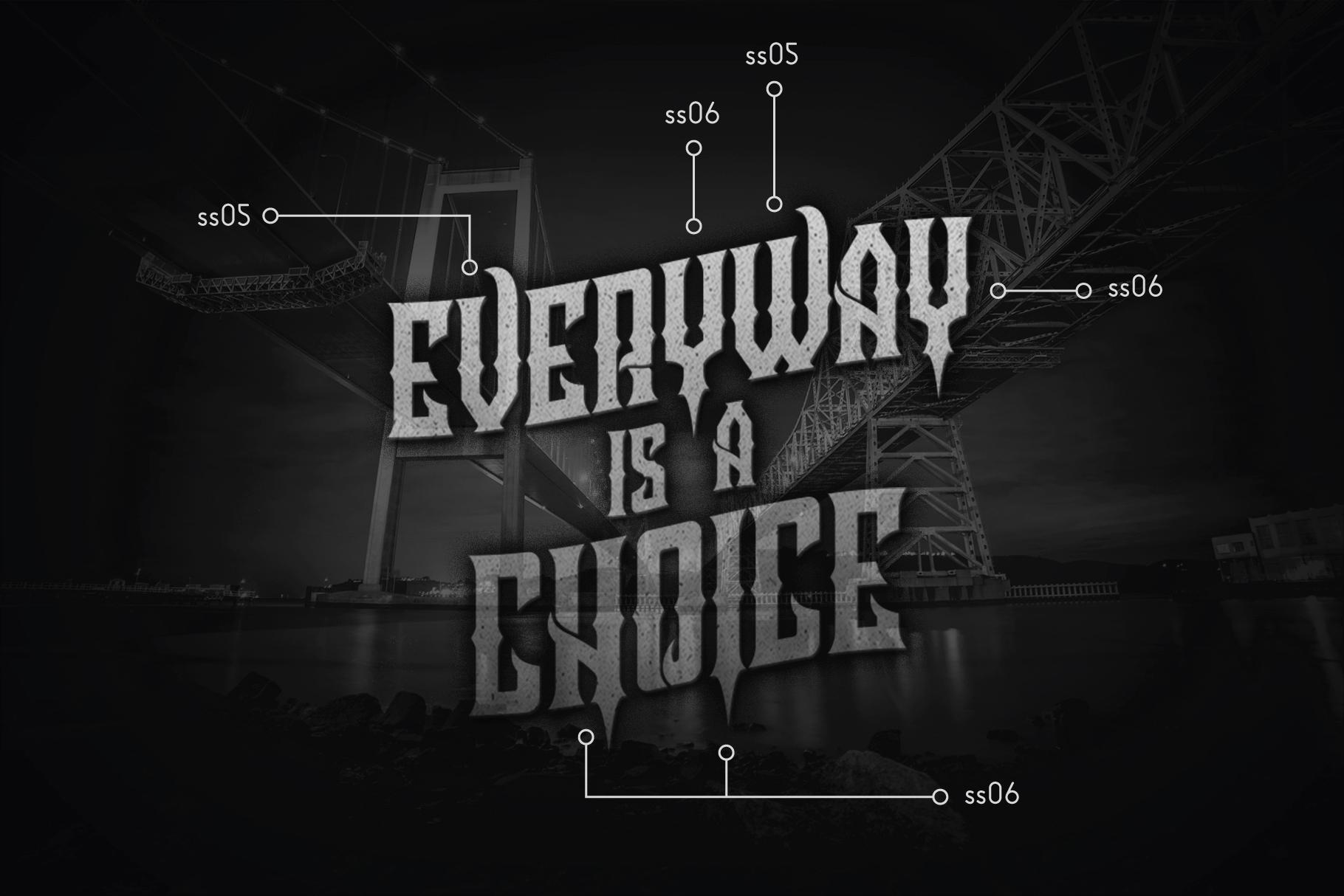 Crozzoe Decorative Serif Typeface example image 3