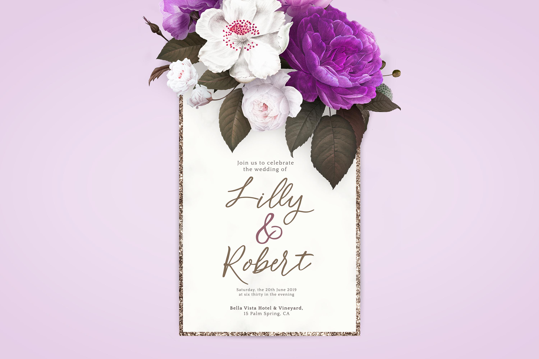 Flower Power script font example image 8