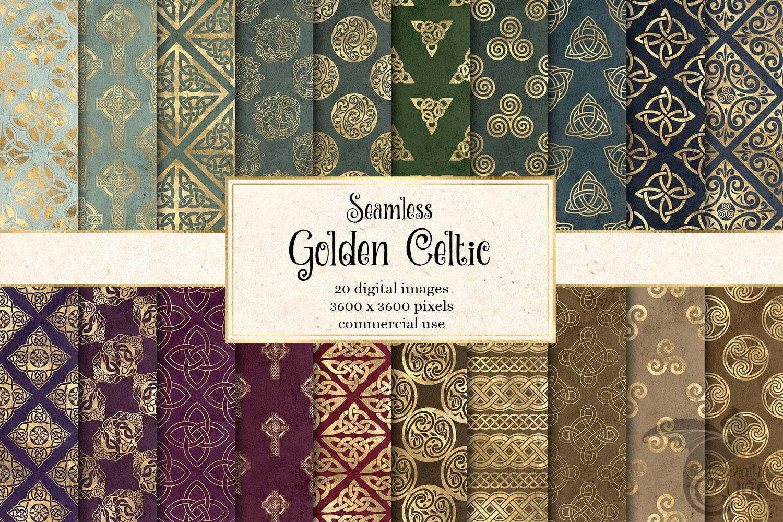 Gold Celtic Digital Paper example image 1