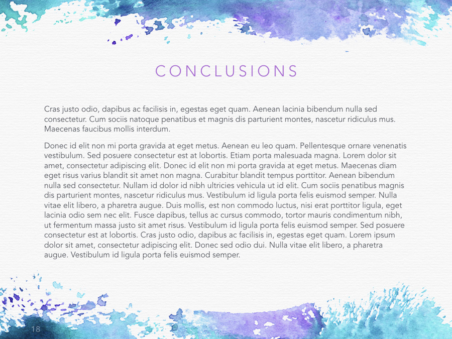 Watercolor PowerPoint Template example image 16