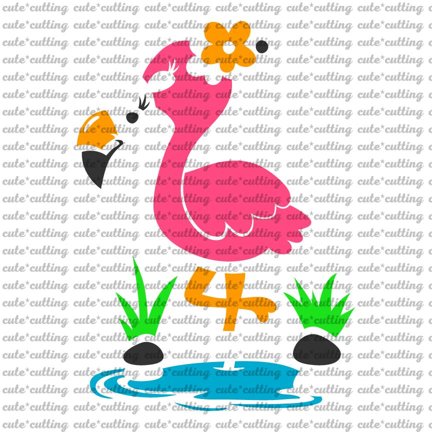 Flamingo, Pink Flamingo, svg, dxf, pdf, jpeg example image 2
