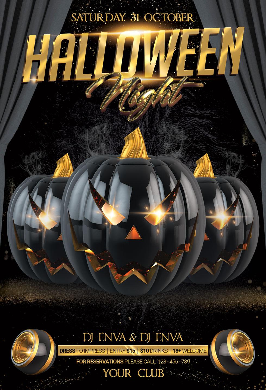 Halloween Flyer example image 3