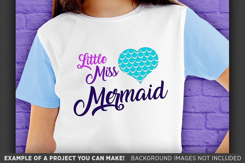 Little Miss Mermaid SVG - Mermaid Shirt SVG File - 1062 example image 3