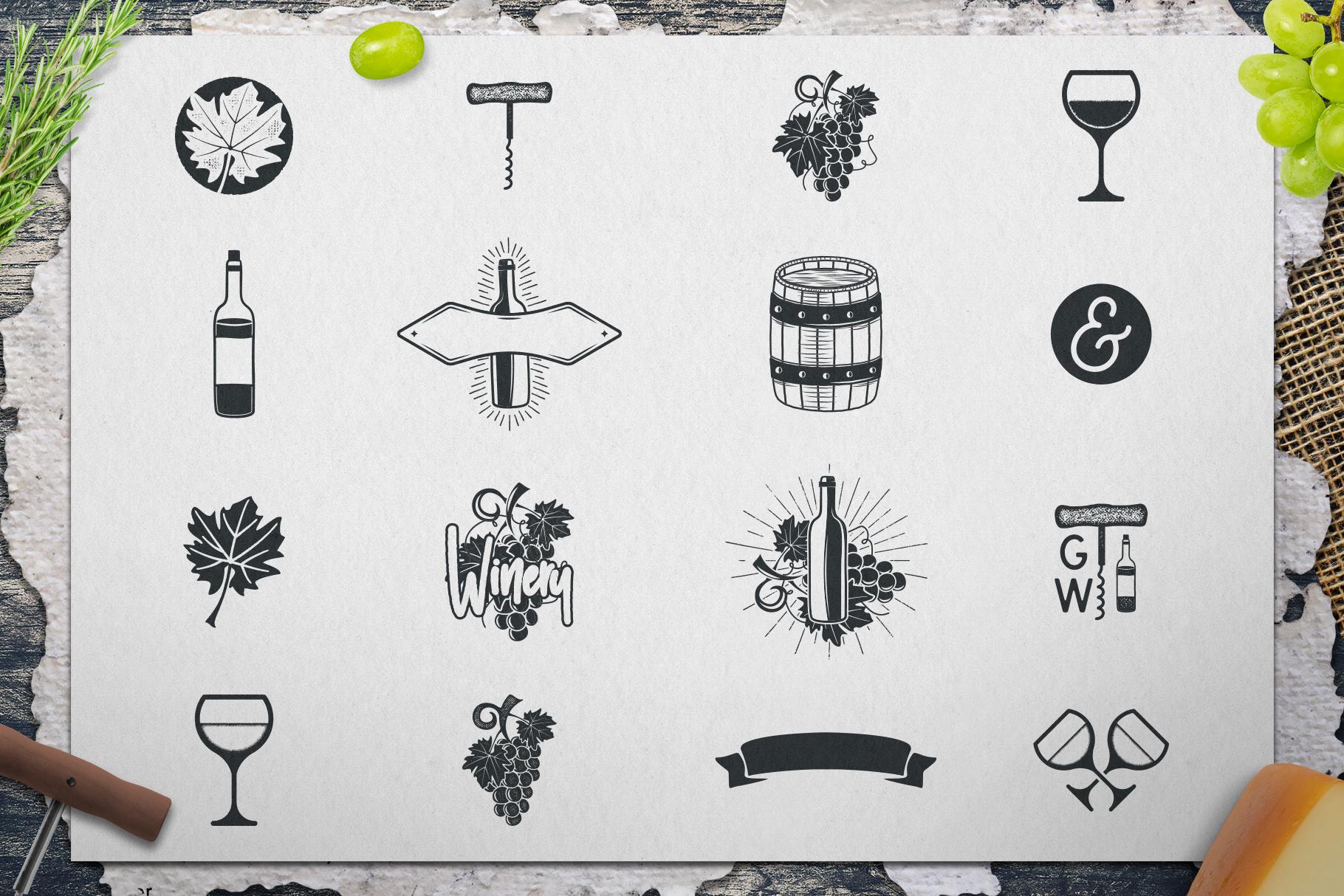 Winery Logo Designs & Wine Elements example image 5