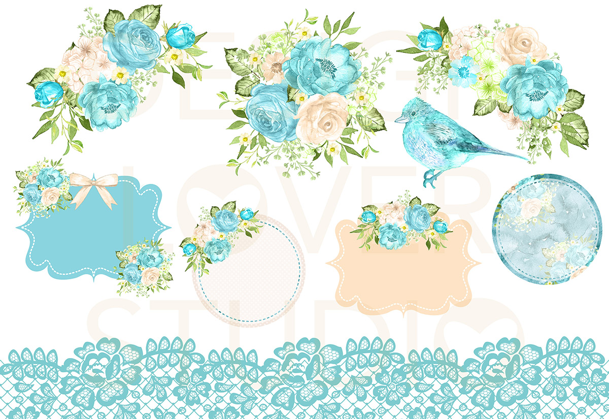 Watercolor AQUA DREAMS design example image 2
