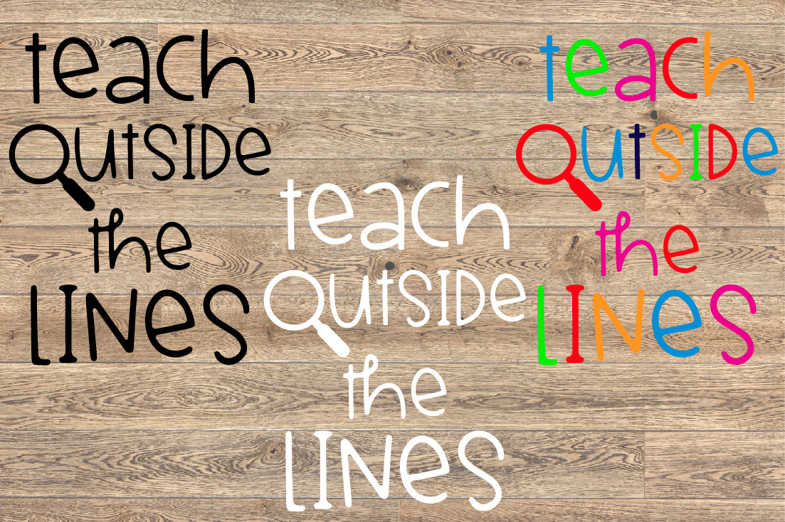 Teach Outside The Lines SVG Teacher Live Love 1247S example image 2