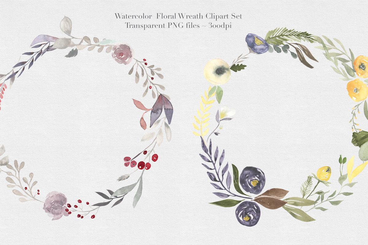 Watercolor Floral Wreaths Vol.1 example image 3