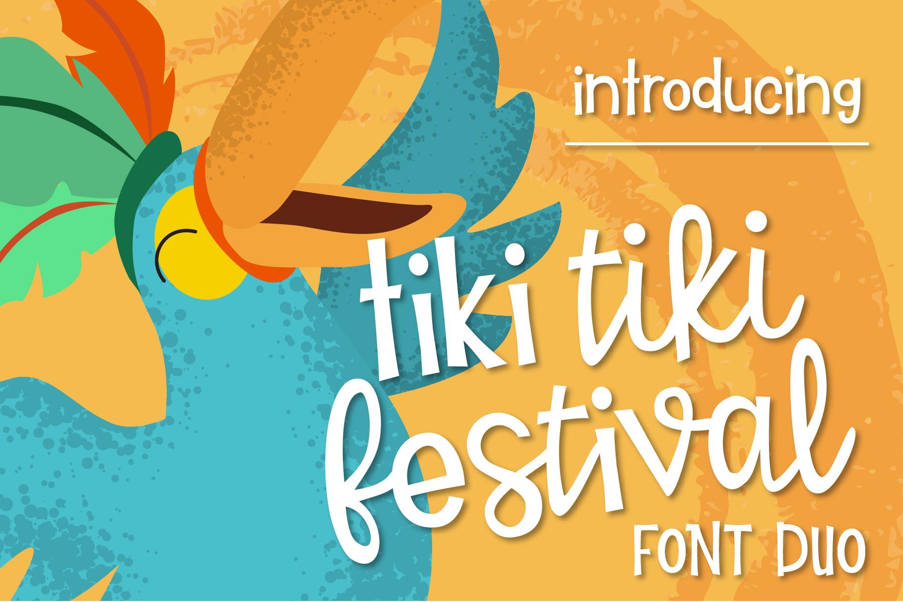 Tiki Tiki Festival Font Duo example image 1