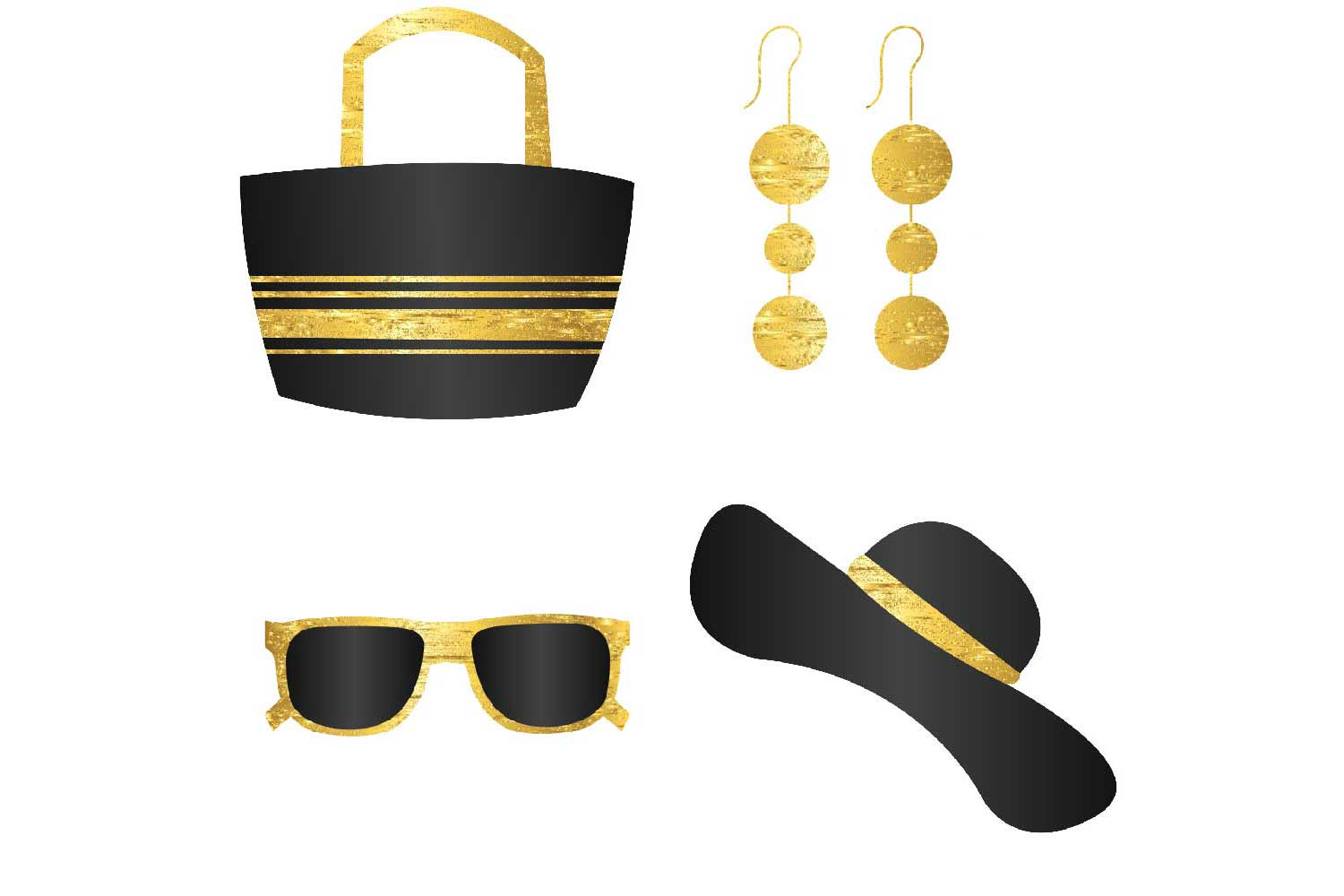 Classy Summer Accessories Clipart example image 2