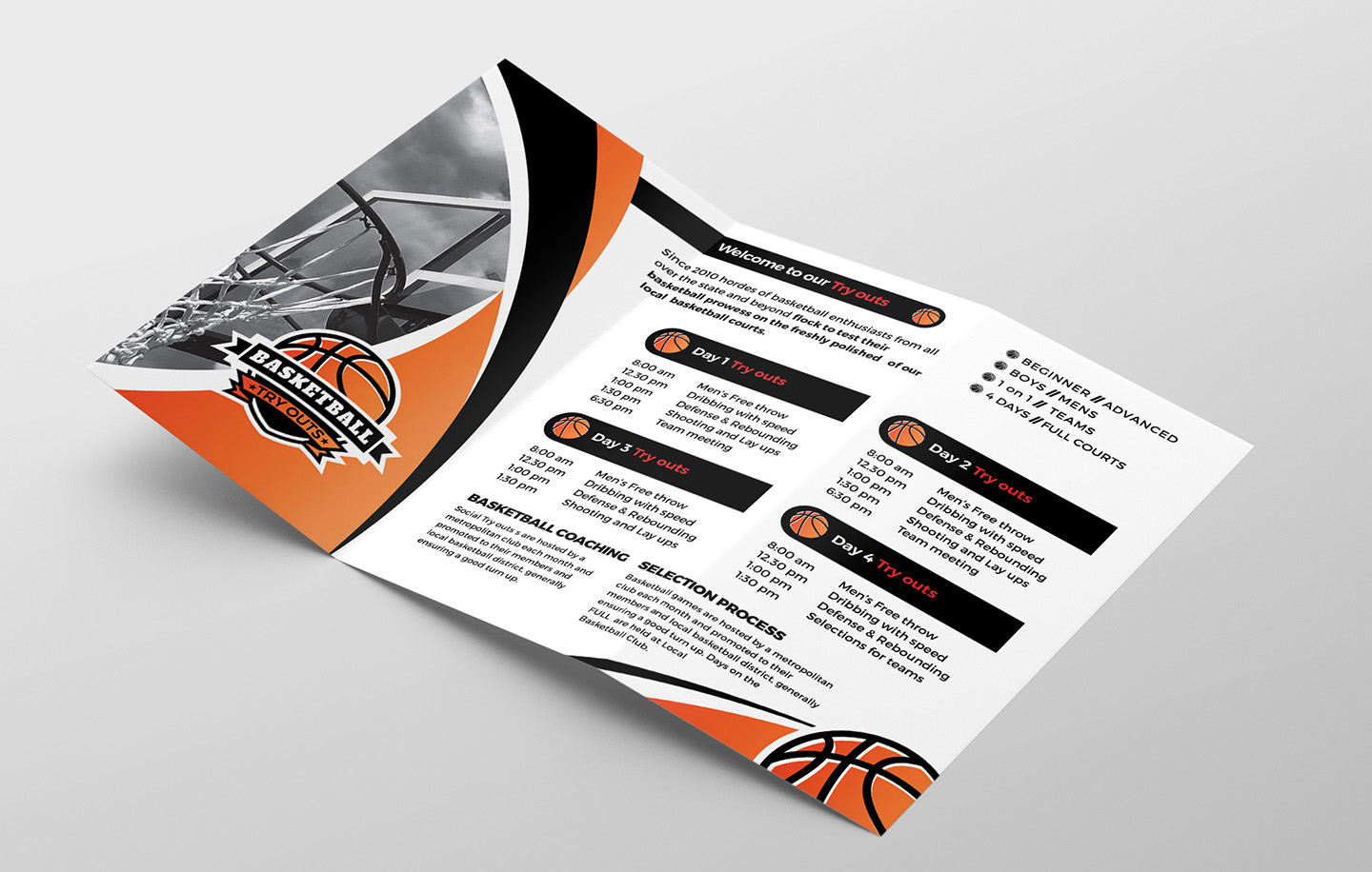 Basketball Tri-Fold Brochure Template example image 2