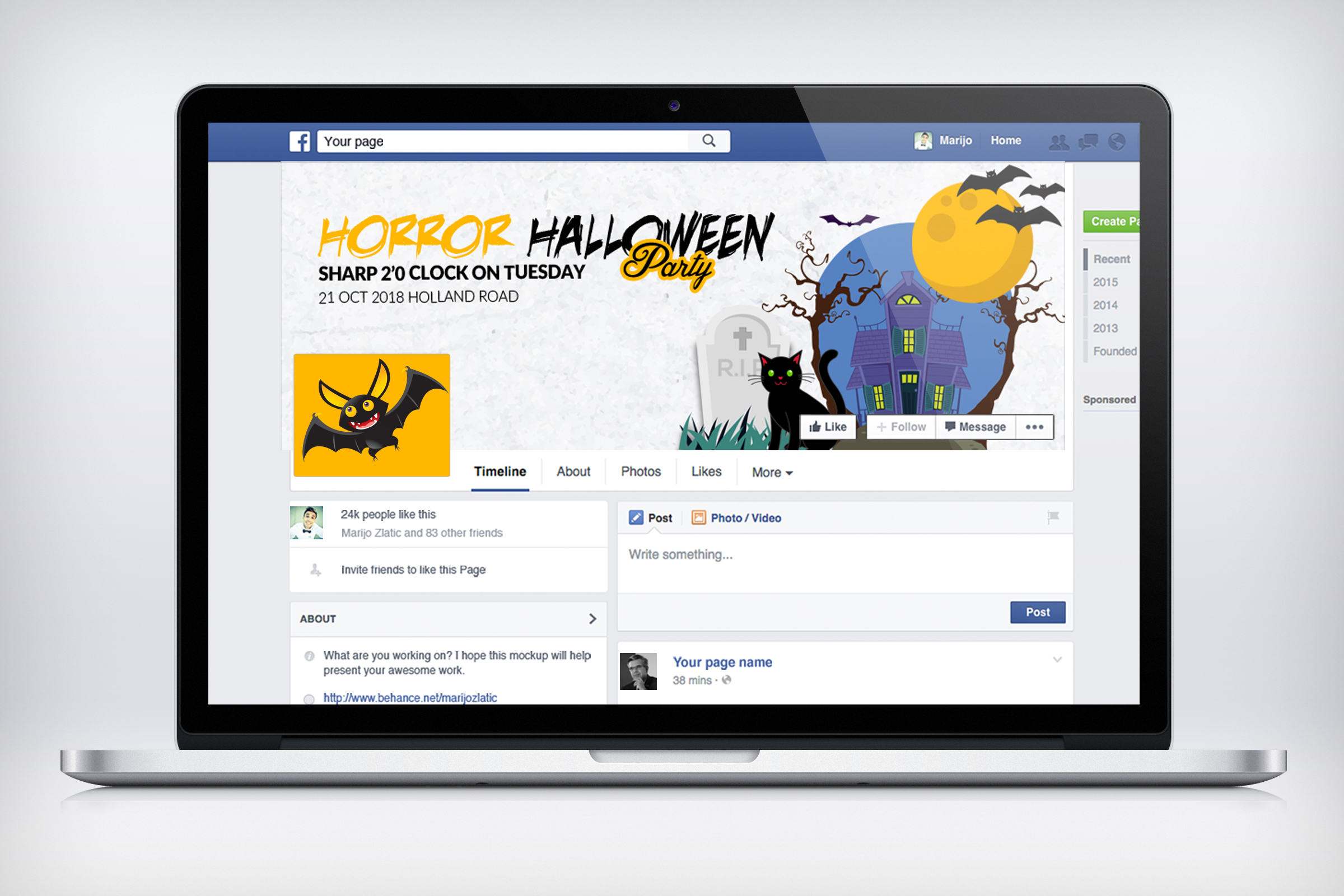 Halloween Facebook Timeline Cover example image 3