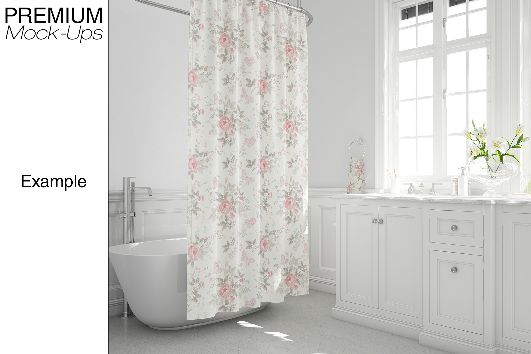 Bath Curtain Mockup Pack example image 17