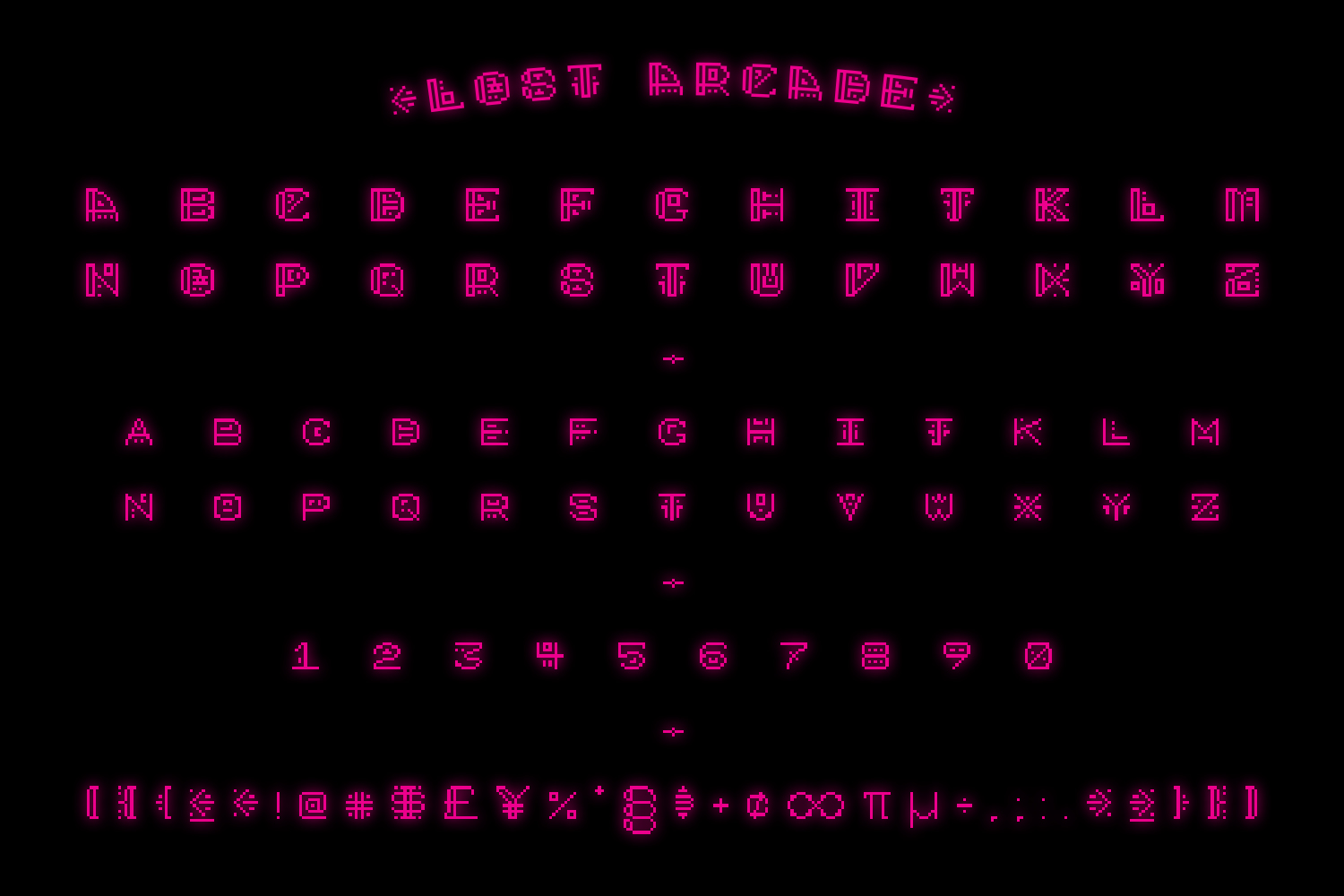 Lost Arcade Full Font Family example image 4