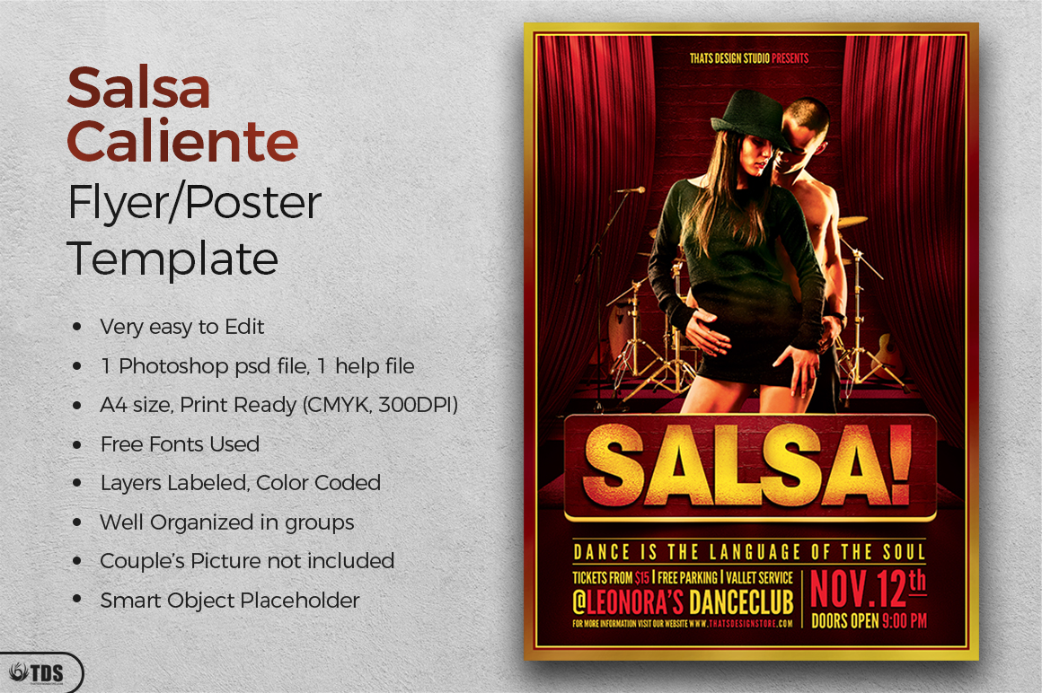 Salsa Caliente Flyer Template example image 2