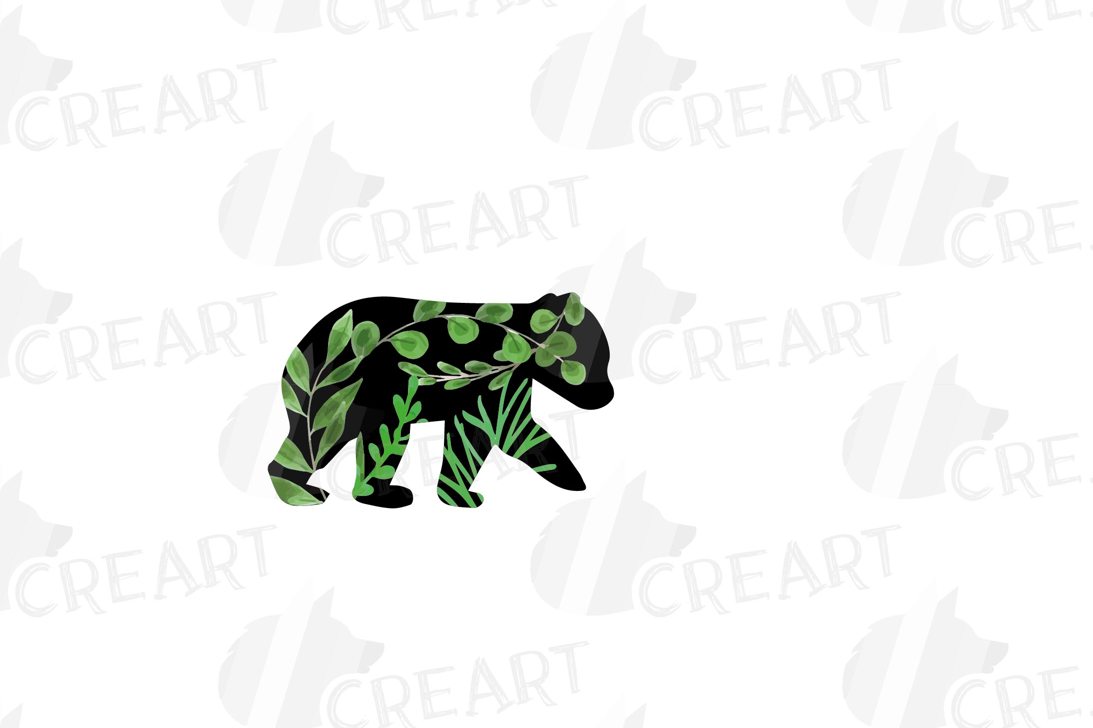 Floral bear family, sister, brother, baby, papa and mama example image 5