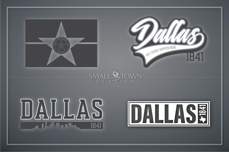 Dallas, Big Things Happen Here - slogan, PRINT, CUT & DESIGN example image 1