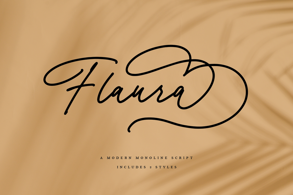 Flaura - A Modern Monoline Script example image 1
