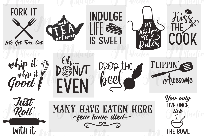 Kitchen Quotes svg bundle - 2 example image 2