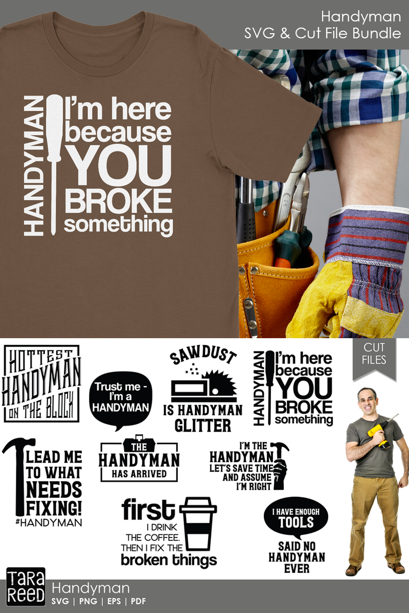 Handyman SVG and Cut Files for Crafters example image 3