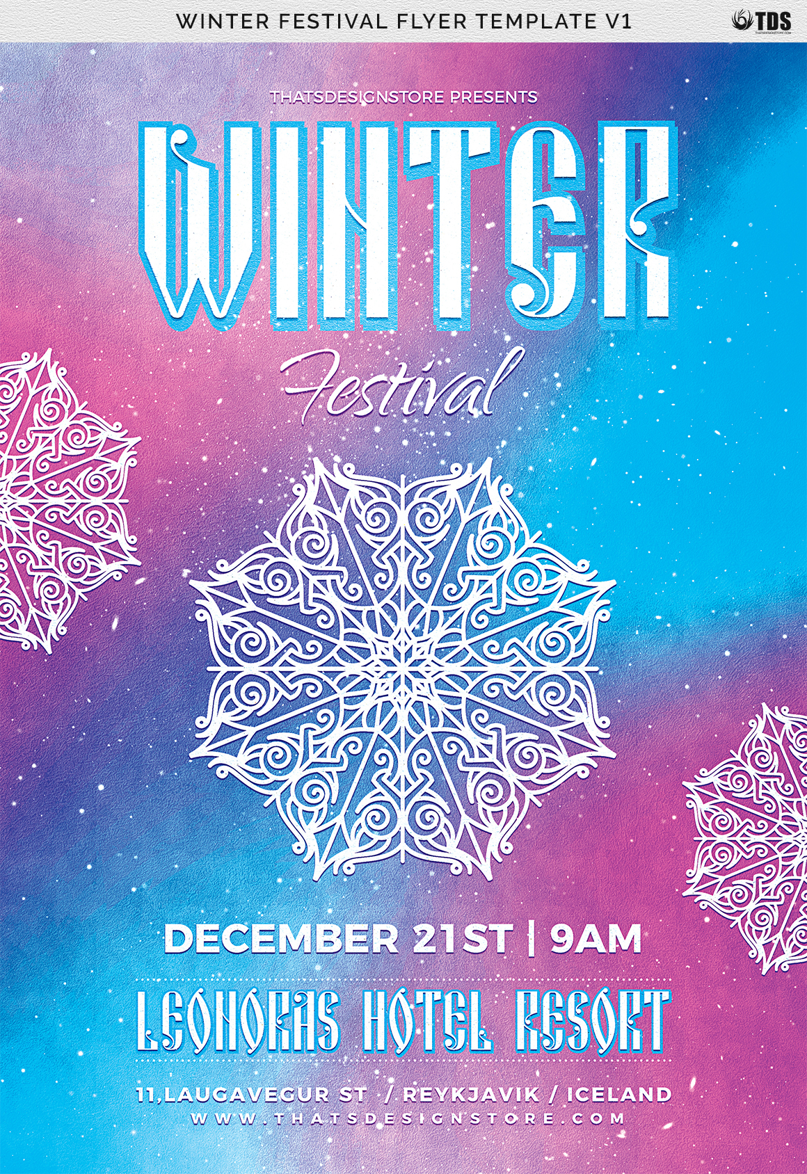 Winter Festival Flyer Template V1 example image 7