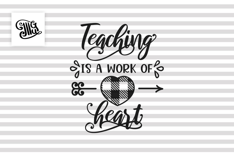 Teacher Valentines day svg example image 2