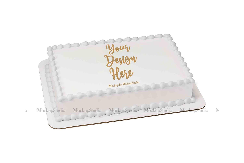 Sheet Cake Mockup Bundle, Edible Cake Print Mock Up Display example image 6