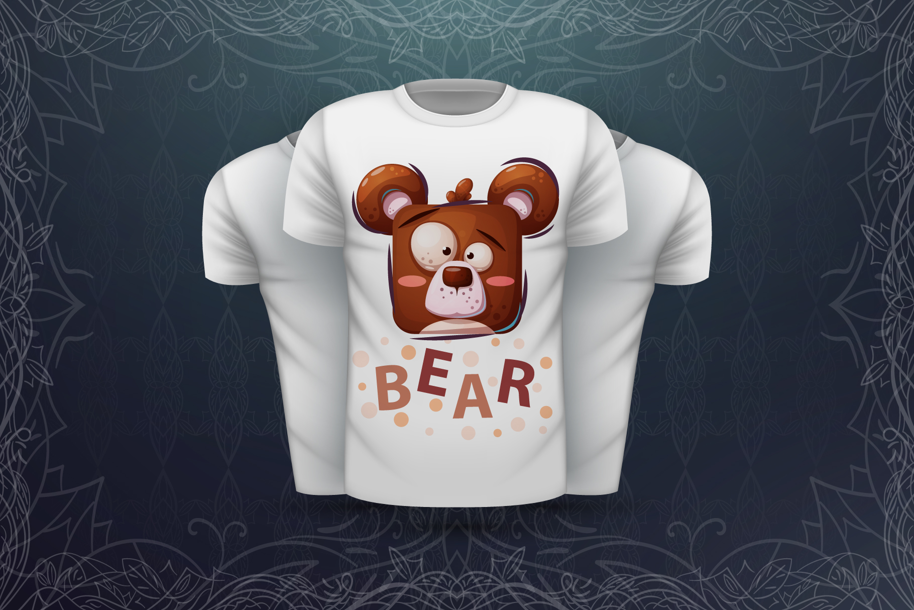 Set cute animal - for print t-shirt example image 3