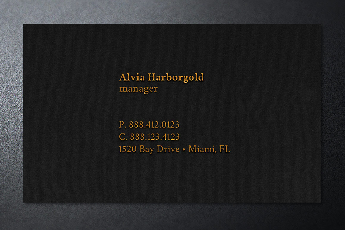 Jewelry Store Business Card Photoshop Template example image 6