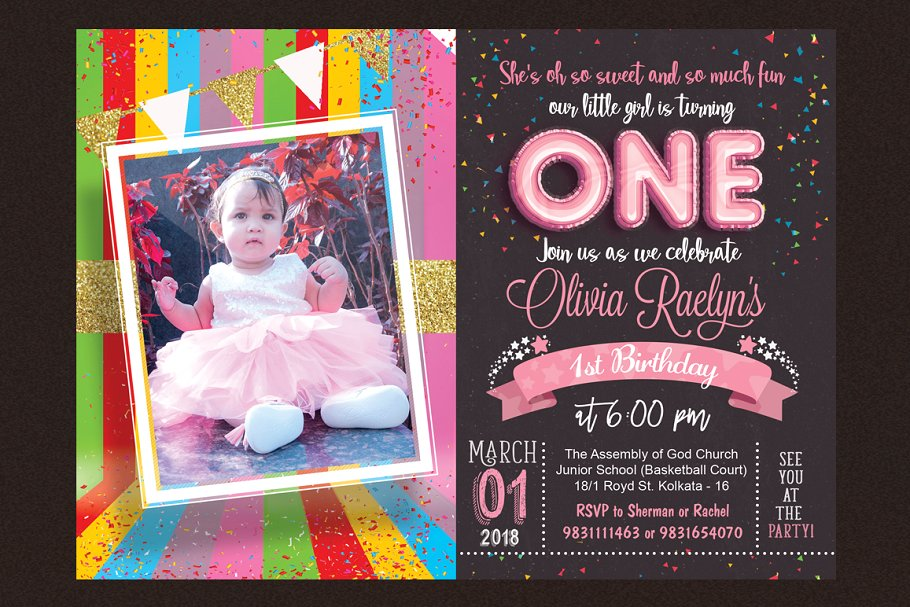 Kids Birthday Invitation example image 2