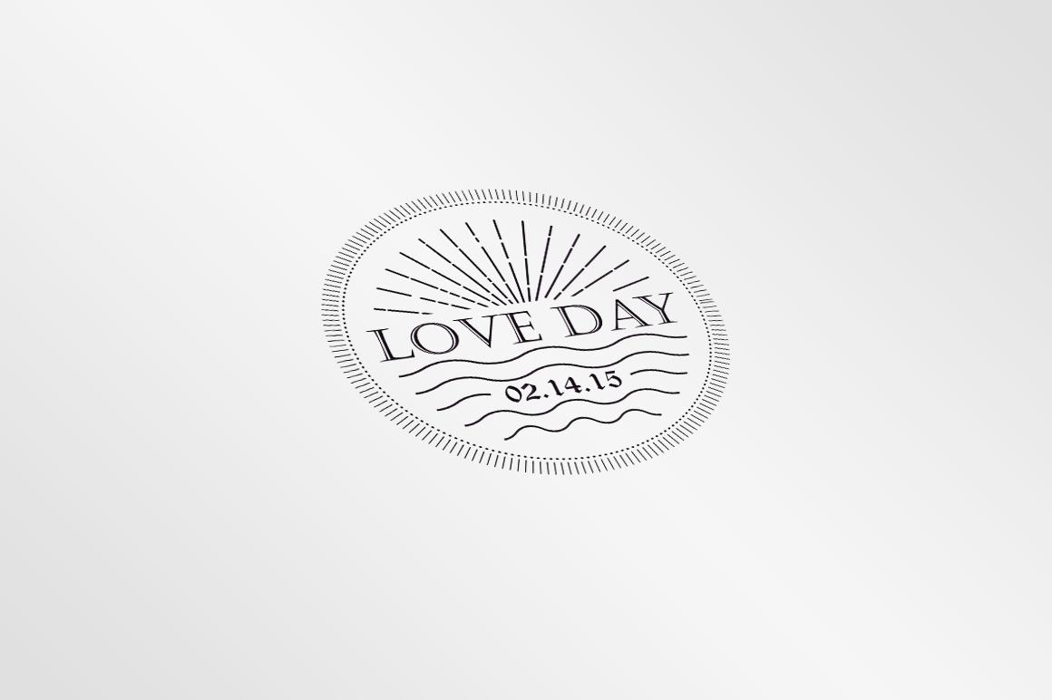Badges Valentine Vintage example image 3