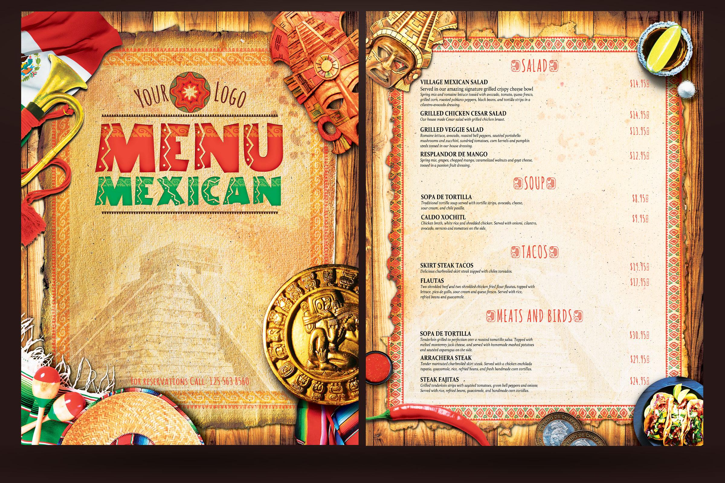 Mexican Menu example image 2