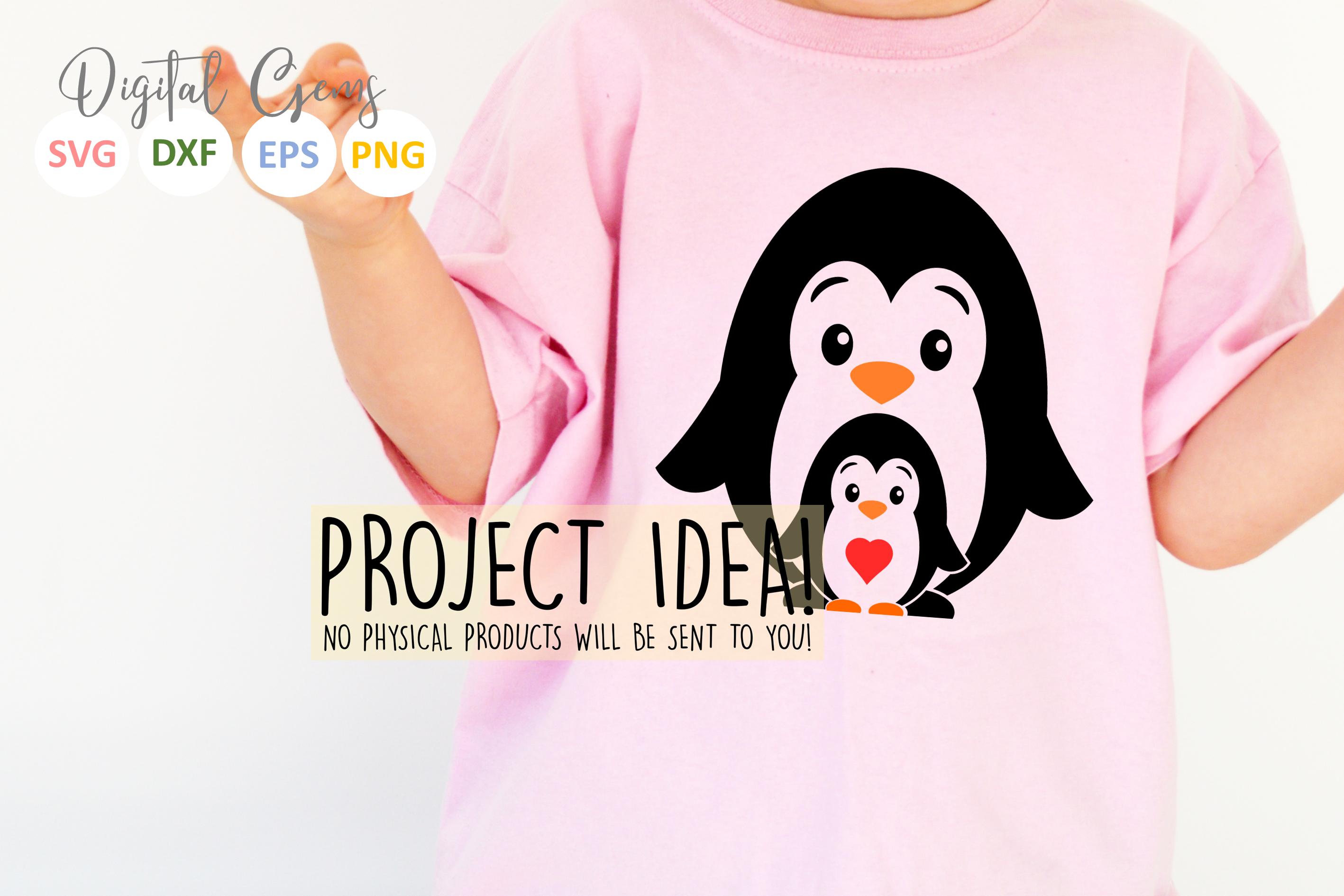 Penguin and baby design example image 6
