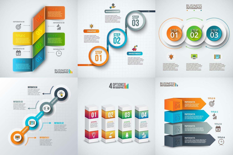 Infographic elements bundle v.02 example image 3
