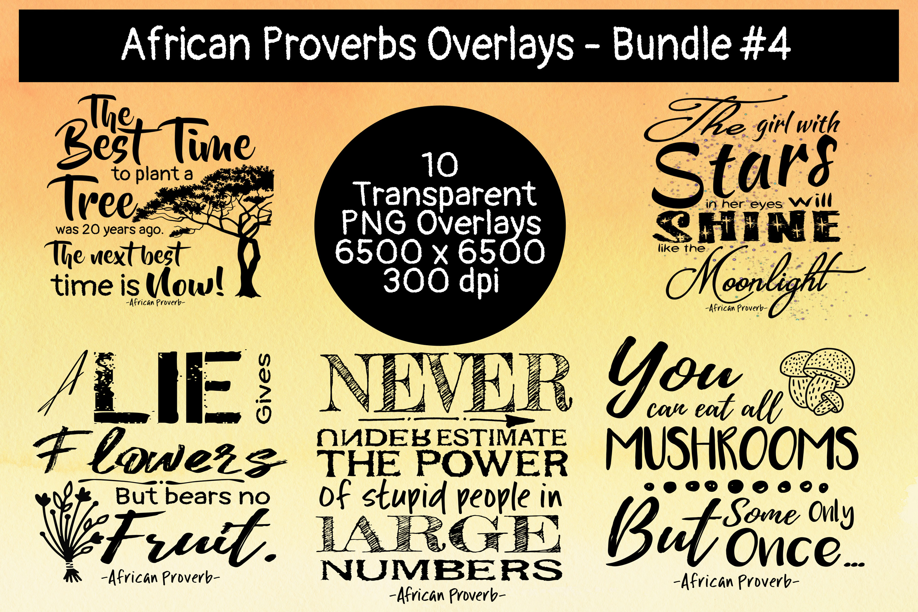 African Proverbs Overlays Bundle #4 example image 2
