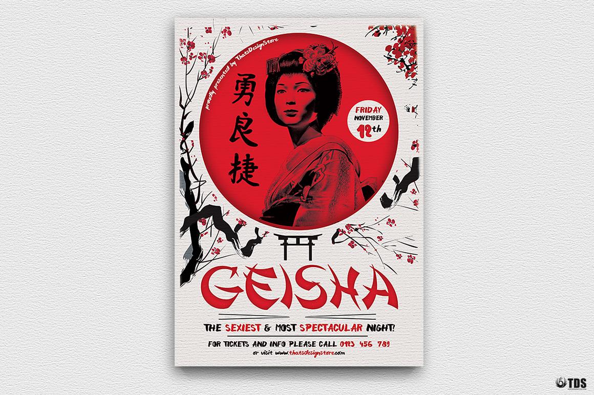 Geisha Night Flyer Template V4  example image 2