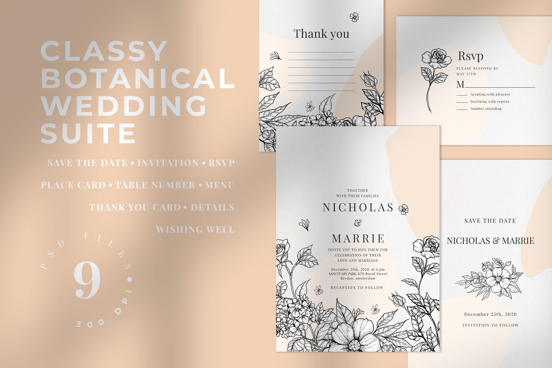 Classy Botanical Wedding Suite example image 1