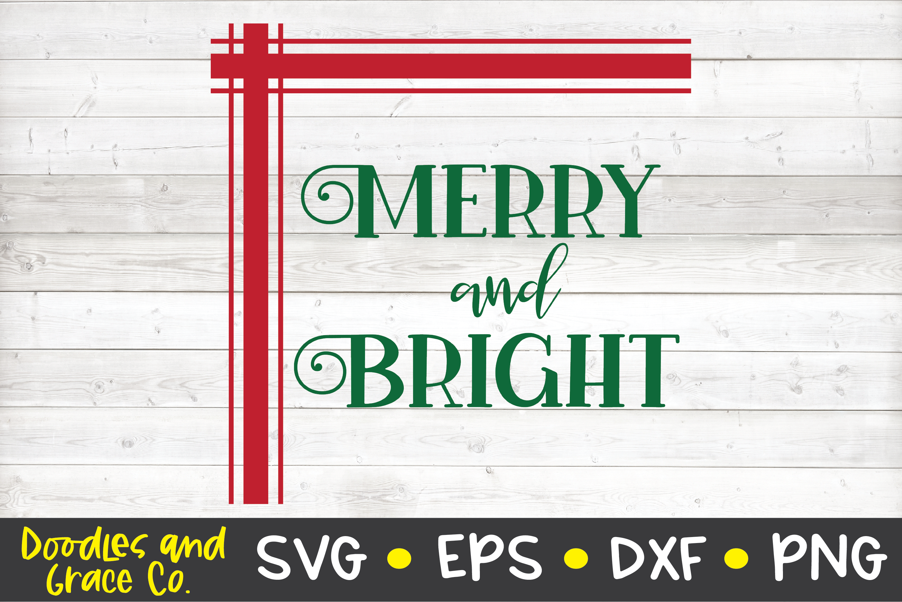 Merry and Bright SVG - Christmas SVG example image 2