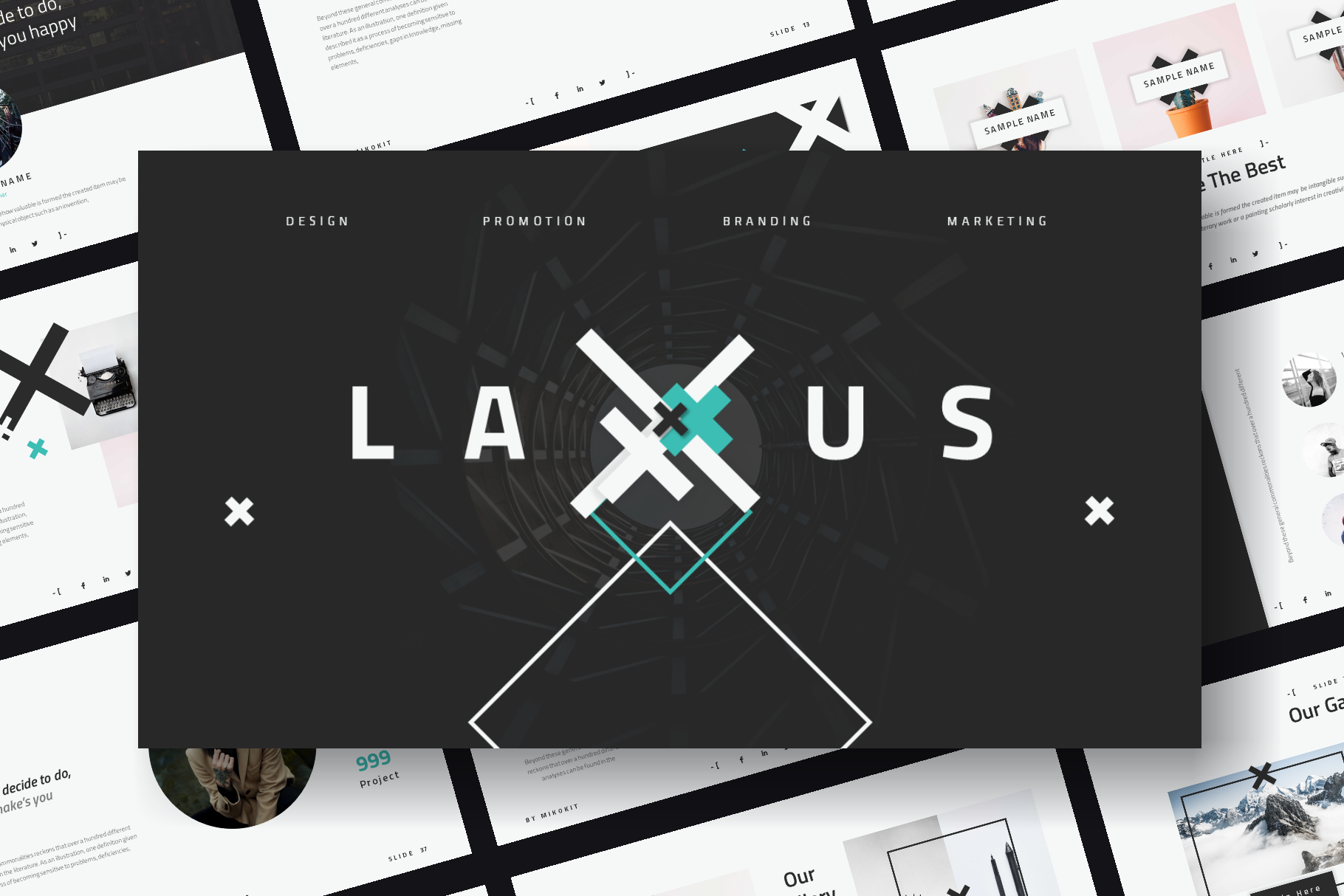 Laxus PowerPoint Template example image 1