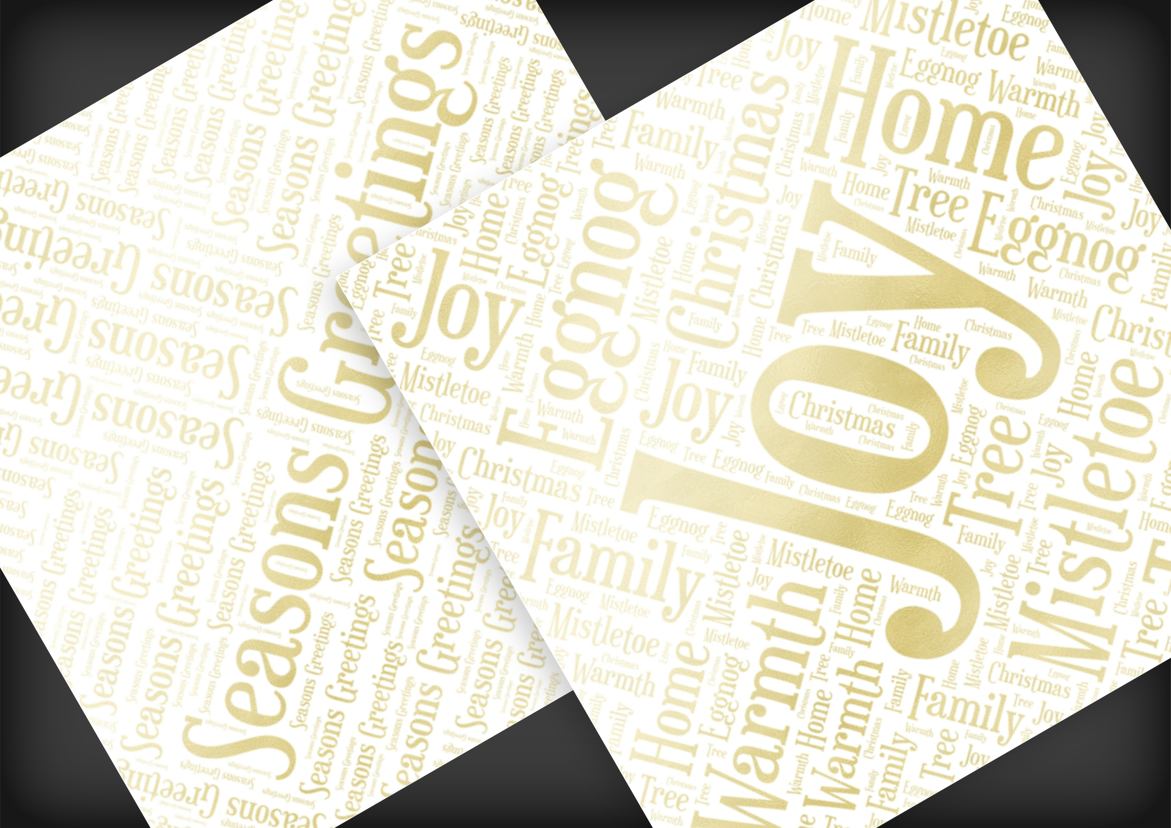 Christmas Soft Gold Word Overlays example image 8