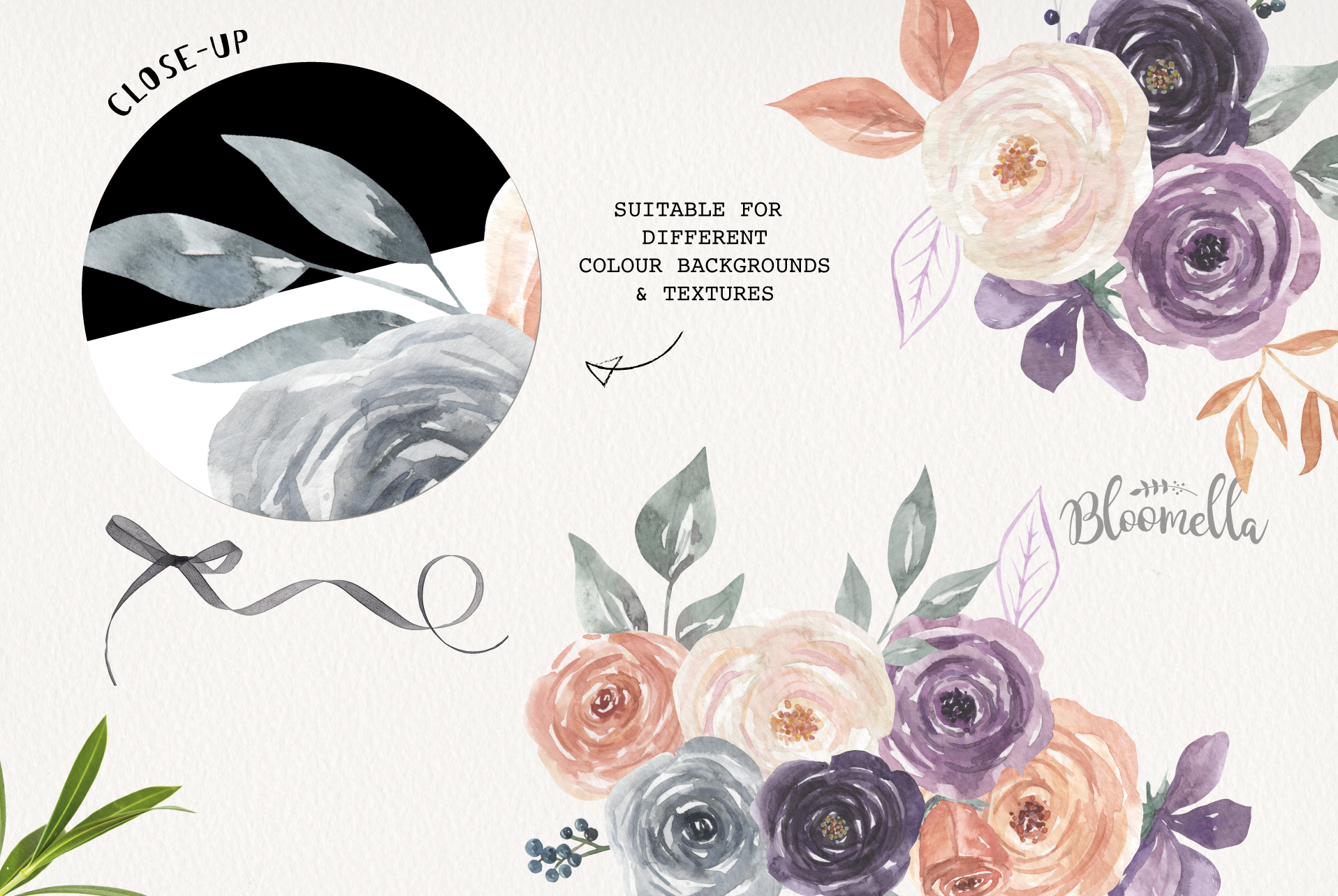Mystical Watercolor 8 Clipart Bouquets Flowers Berries example image 5