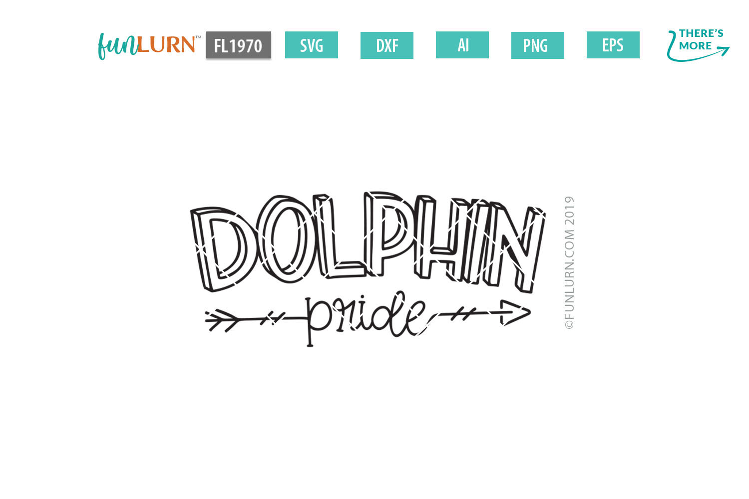 Dolphin Pride Team SVG Cut File example image 2