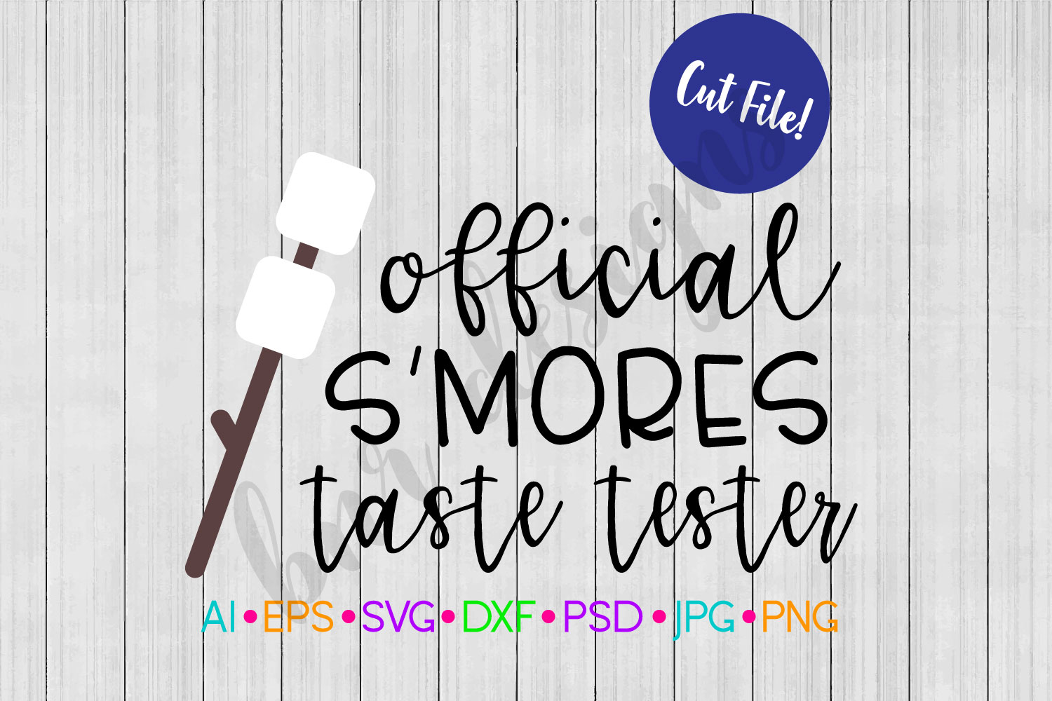 Official Smores Taste Tester SVG, Camping SVG example image 1