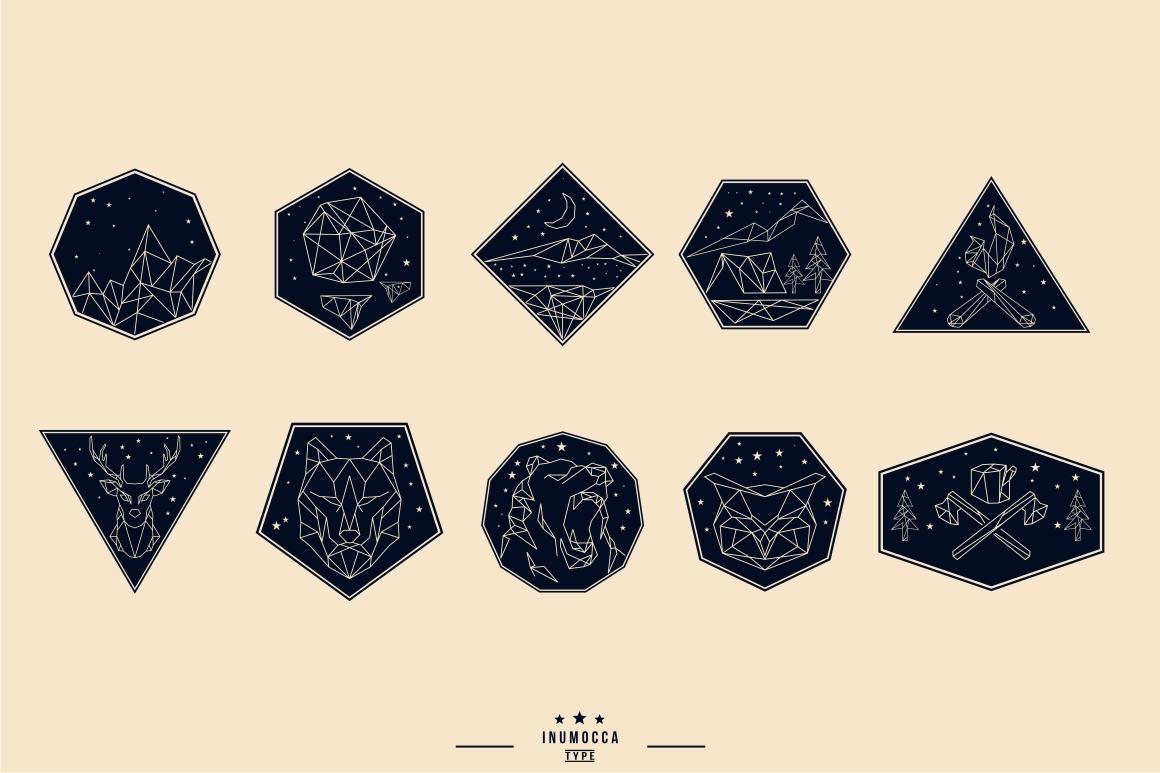 10 Geometric Vintage Badges example image 2