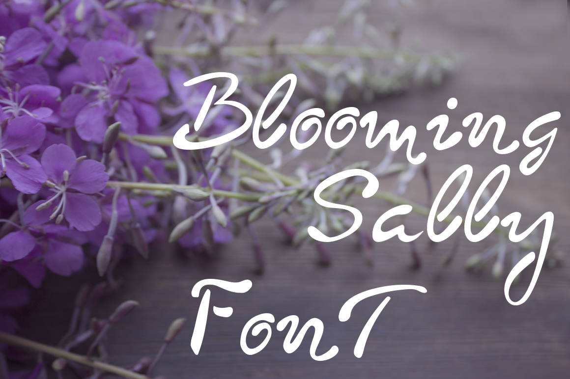 Blooming sally font example image 2