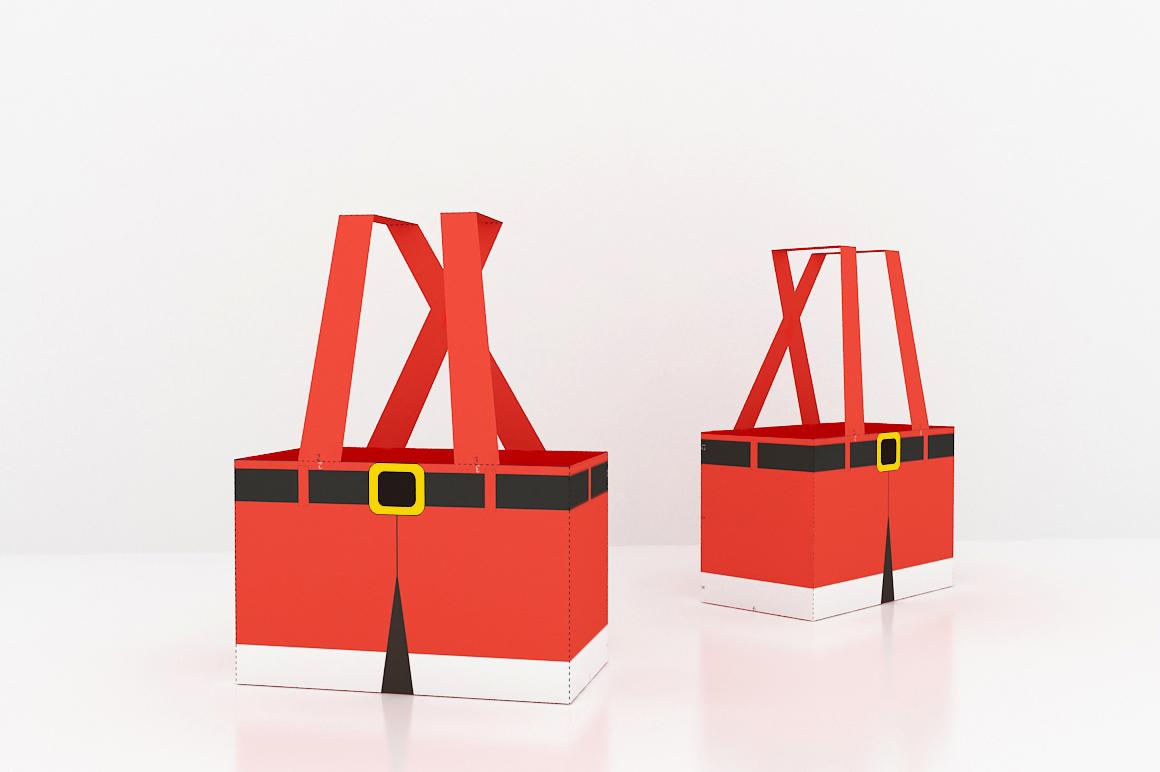 DIY Santa Pants Favor - 3d papercraft example image 3